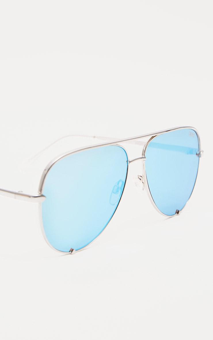 QUAY AUSTRALIA Blue X Desi High Key Aviator Sunglasses 3