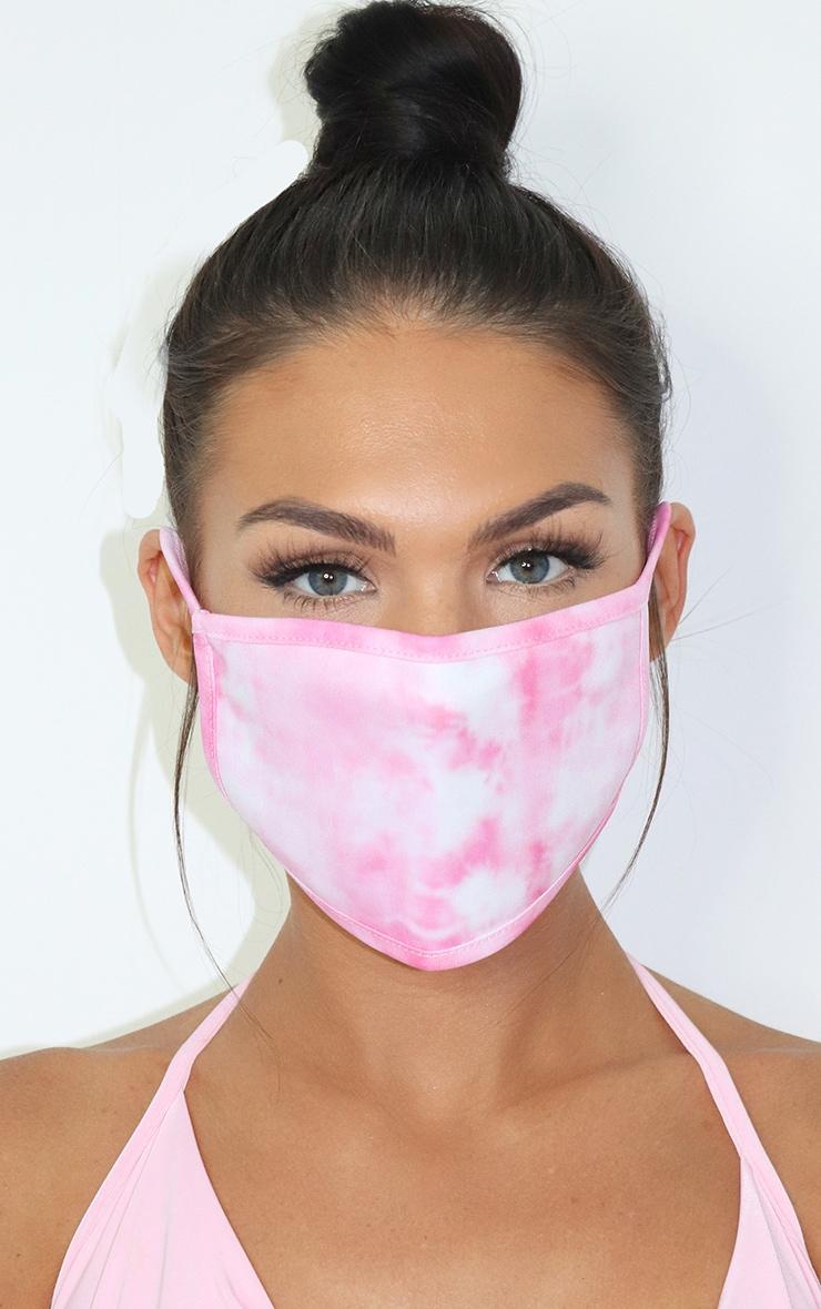 Pink Tie Dye Fashion Mask image 2