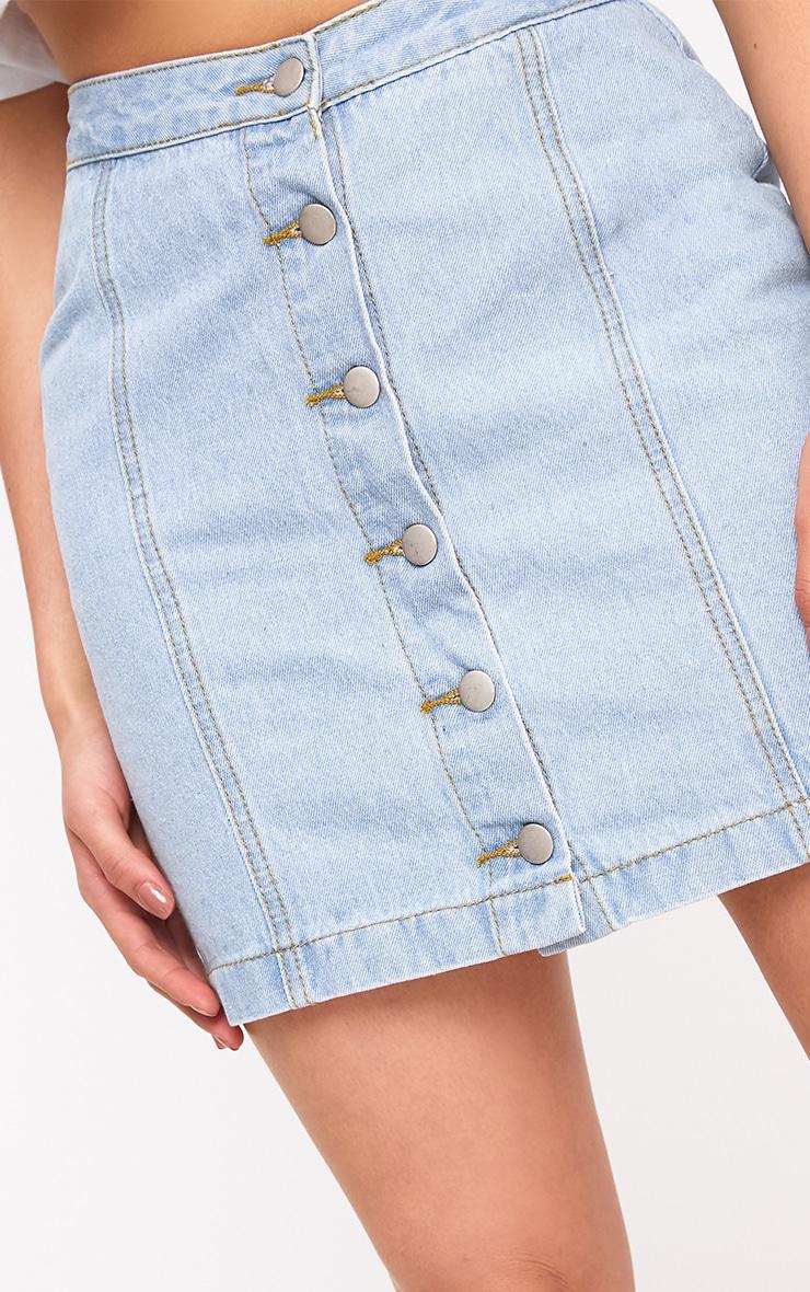 Cammie Light Wash Mini Skirt 6