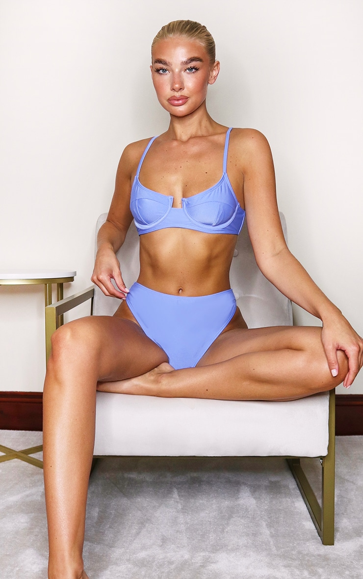 Cornflower Blue Mix & Match Underwired Bikini Top 5
