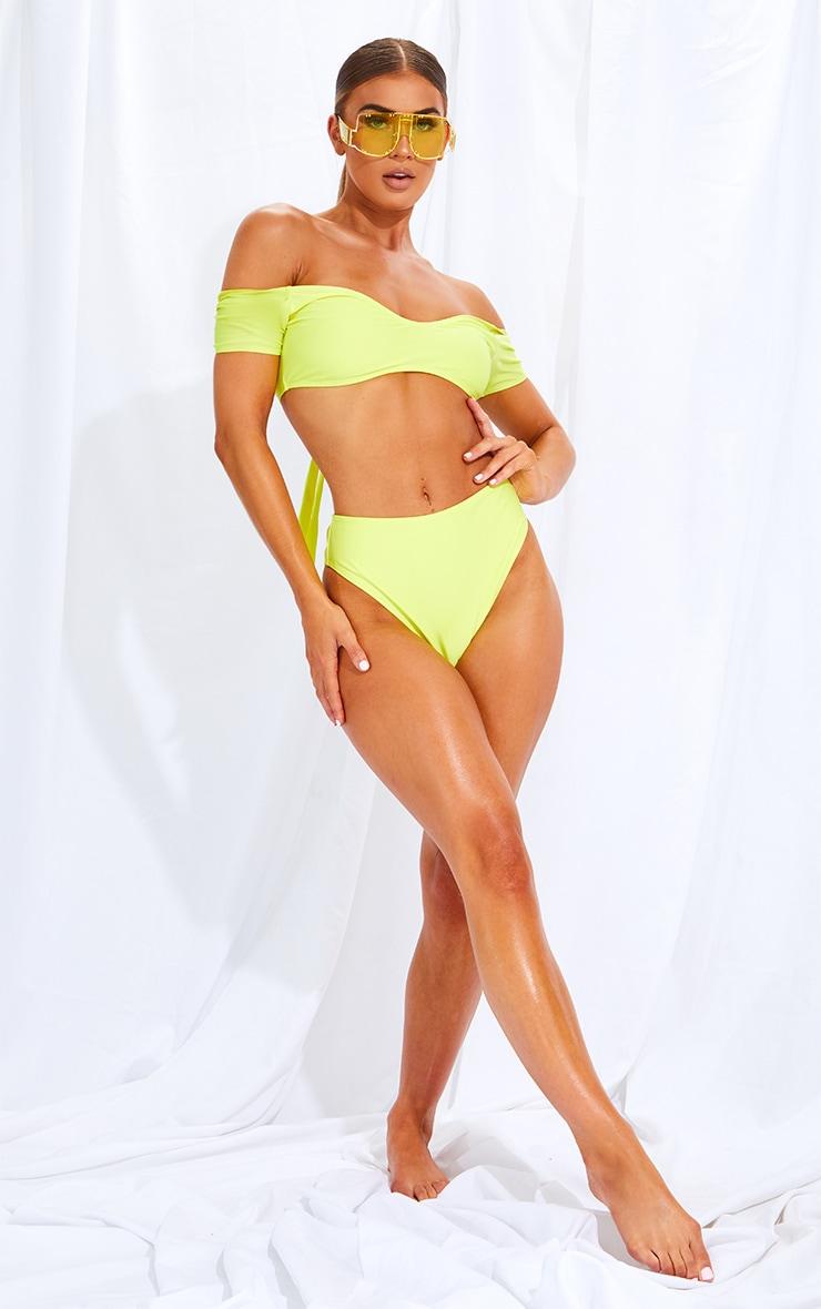 Lemon High Waist High Leg Bikini Bottom 4