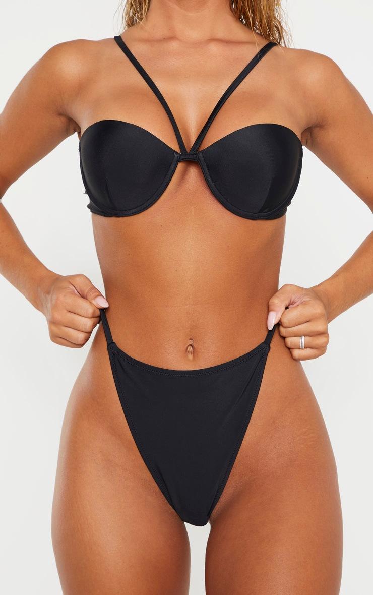 Black Tanga Side Bikini Bottom 4