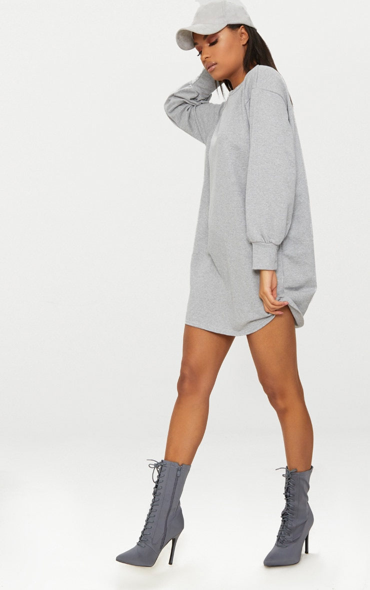 Grey Oversized Sweater Dress 4
