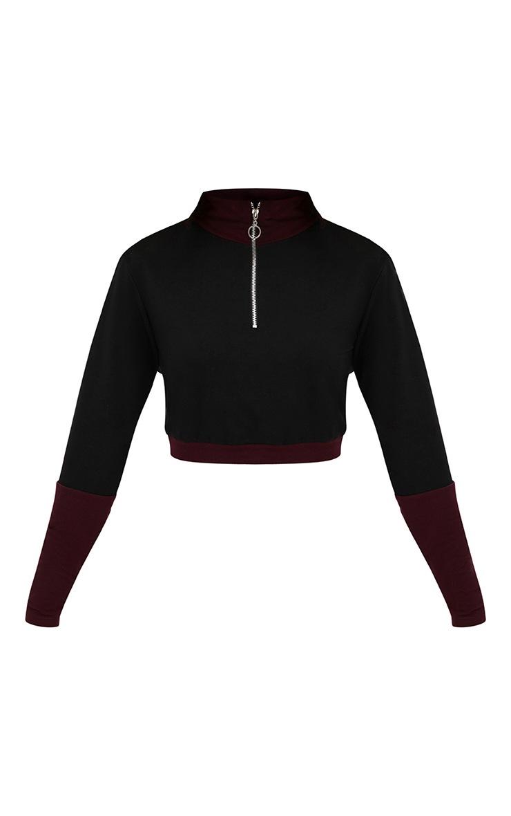 Black Ring Zip Turtle Neck Sweater 3