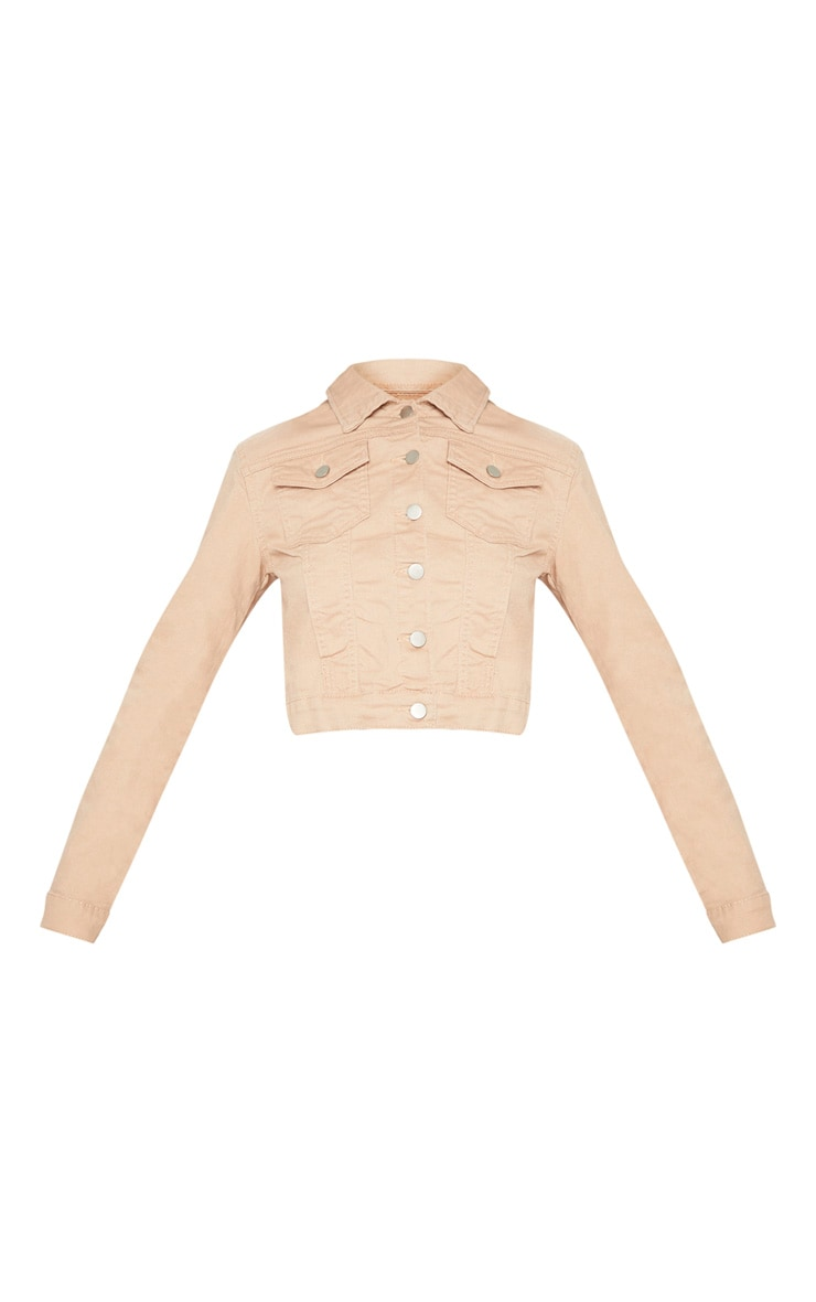 Nude Cropped Denim Jacket 3