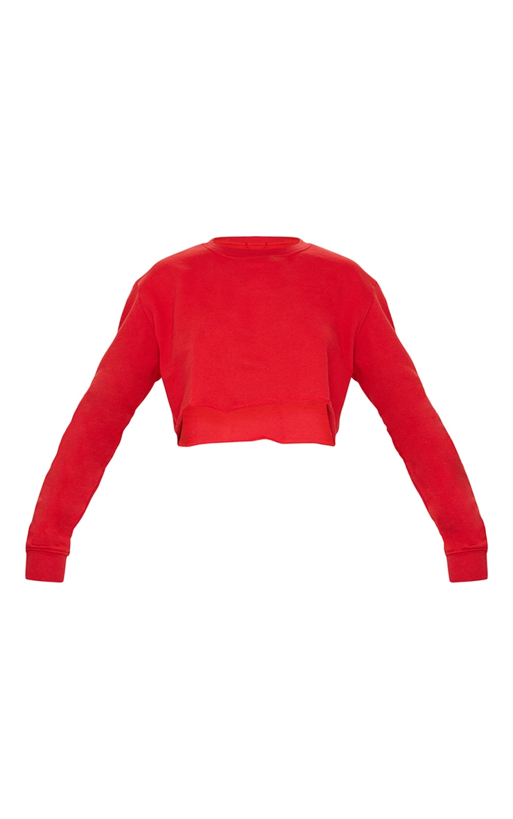 Red Ultimate Cropped Sweater 5