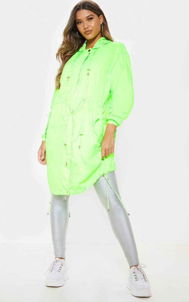 Lime Longline Rainmac  4