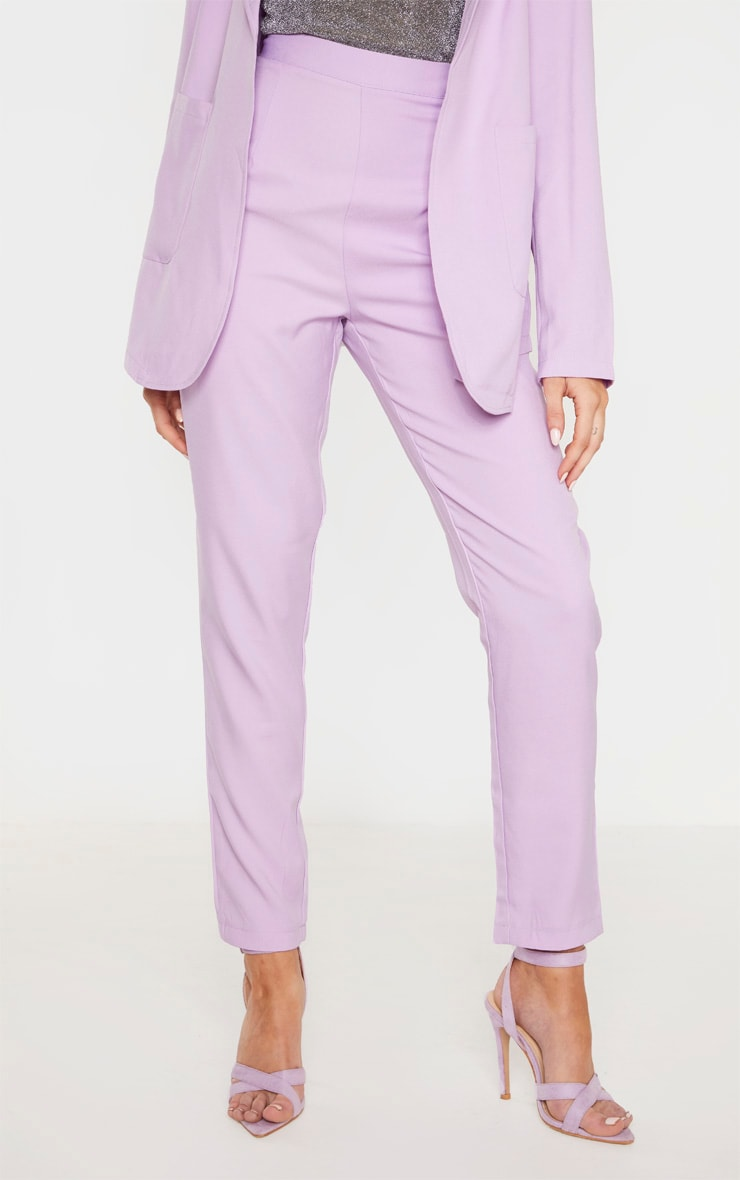 Tall Lilac Fitted Trousers 2