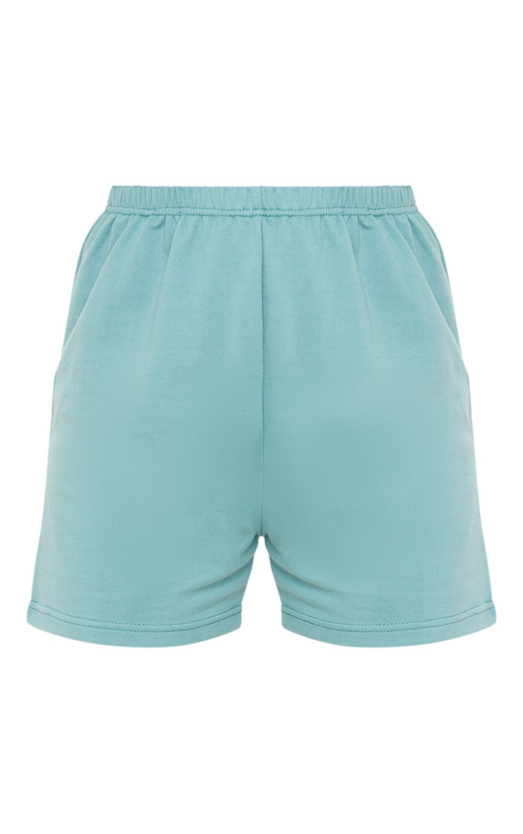 Short en sweat turquoise cendré style jogging 3
