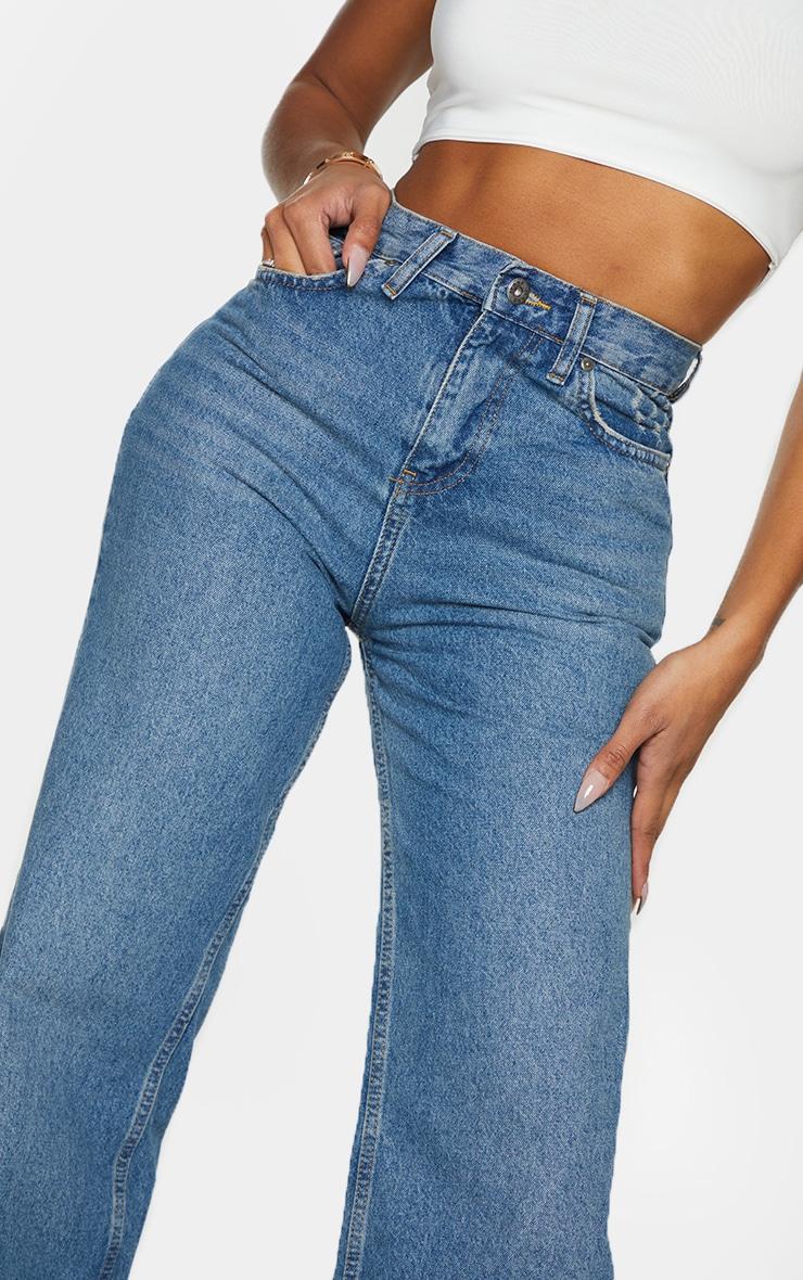 Shape - Jean à jambes évasées et délavage vintage 4