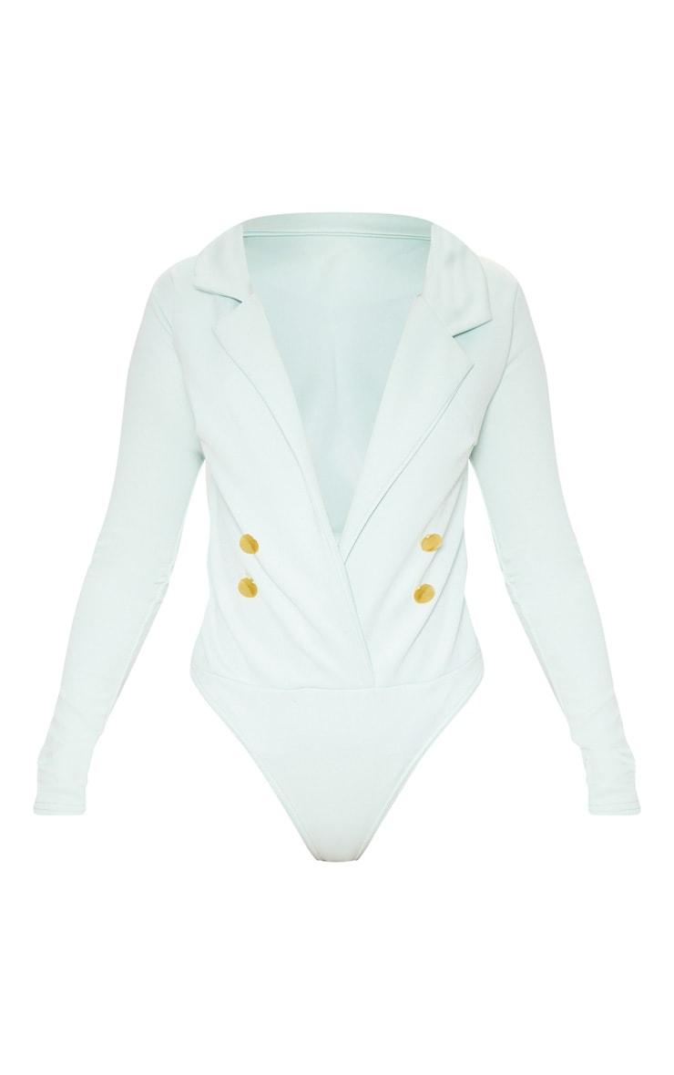 Mint Gold Button Blazer Bodysuit 3