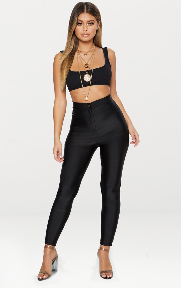 Black Rib Extreme Scoop Neck Bralet 4