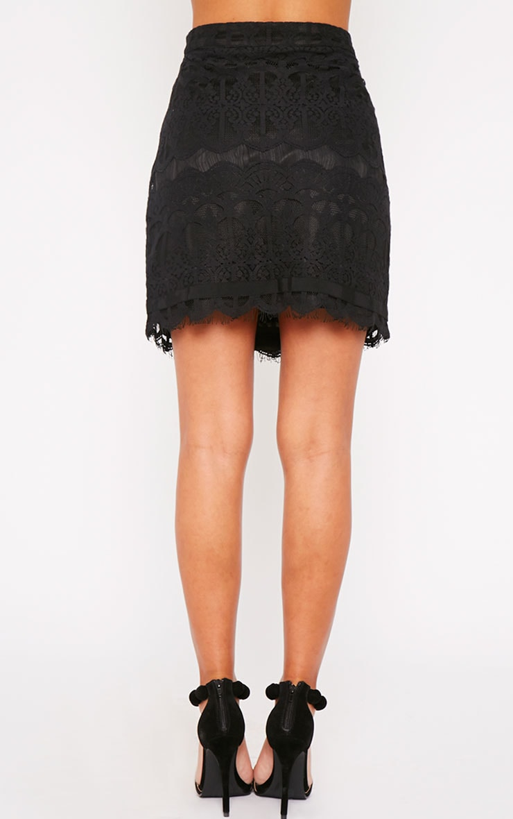 Linnea Black Lace Skirt 4