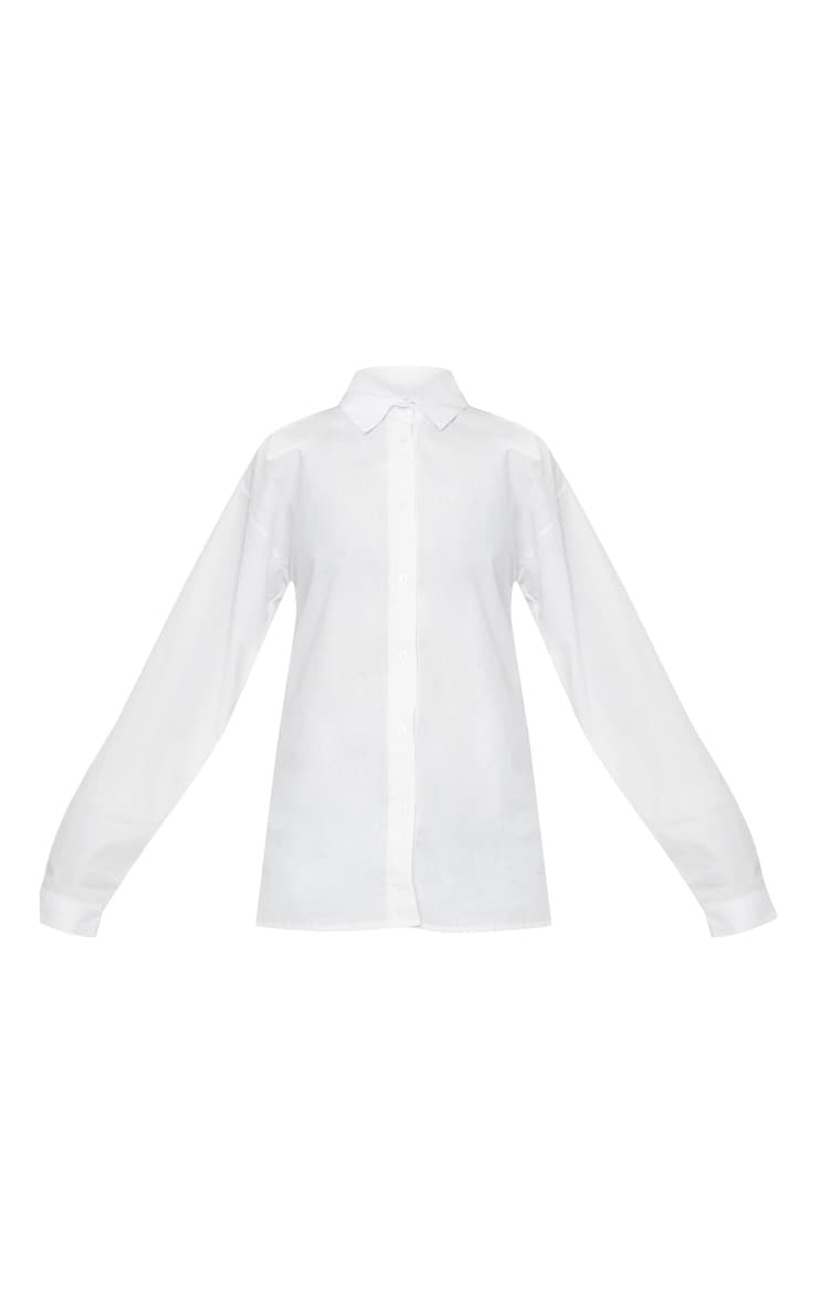 White Cotton Oversized Shirt 3