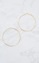 Gold 80mm Large Hoop Earrings 4