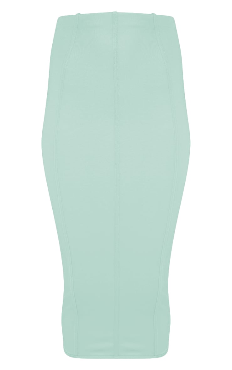 Aqua Second Skin Binding Detail Midi Skirt 3