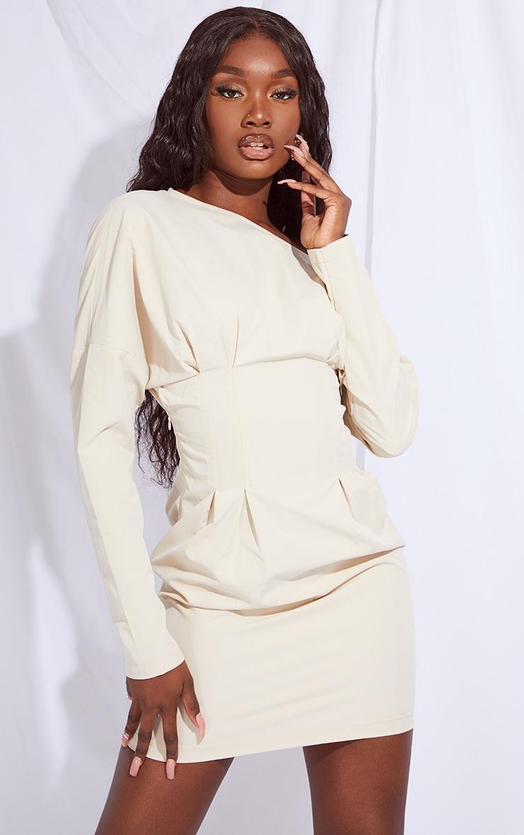 Tall Stone Detail Corset Long Sleeve Dress 1