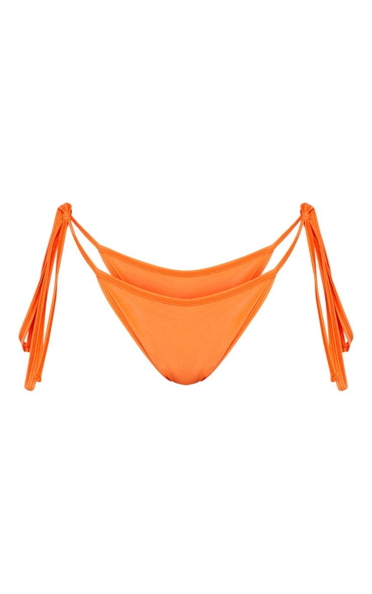 Orange Mix & Match Tie Side Bikini Bottom 3