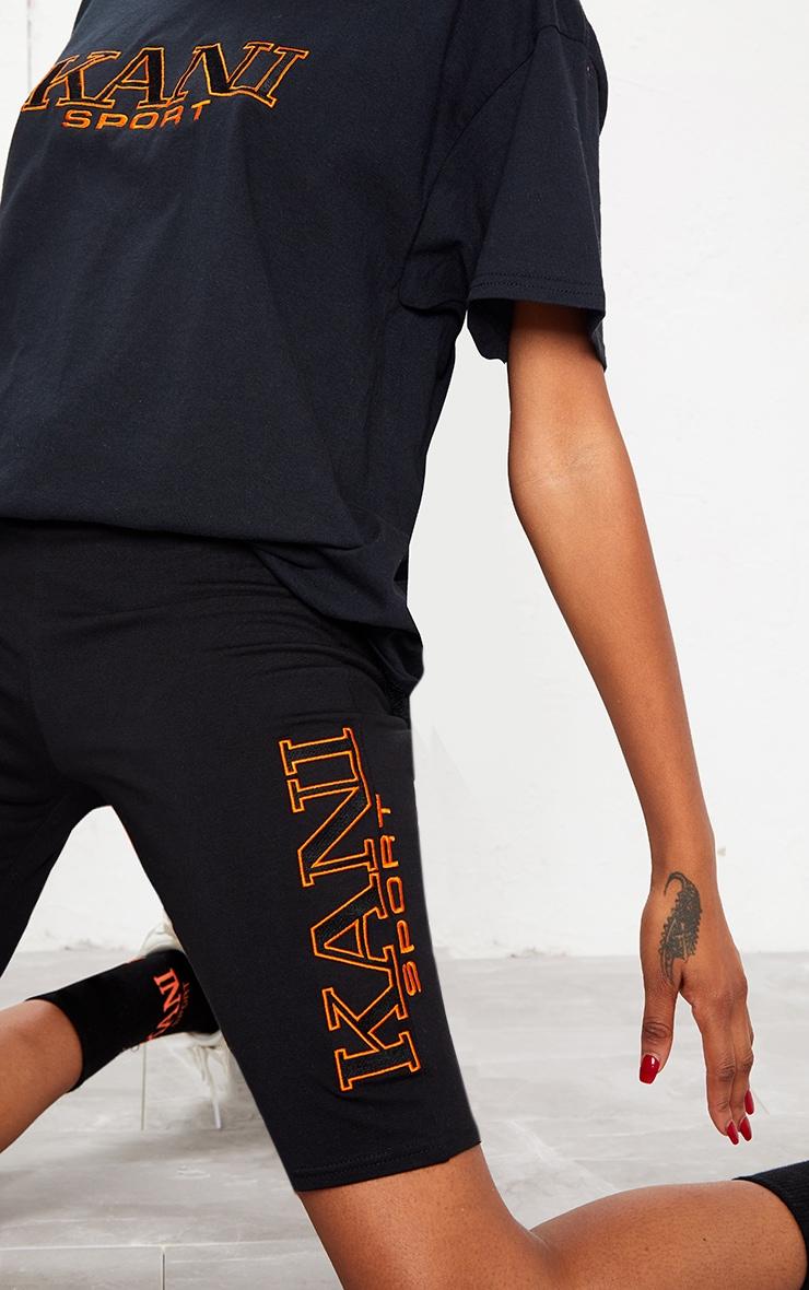 KARL KANI Black Embroidered Cycle Shorts 8