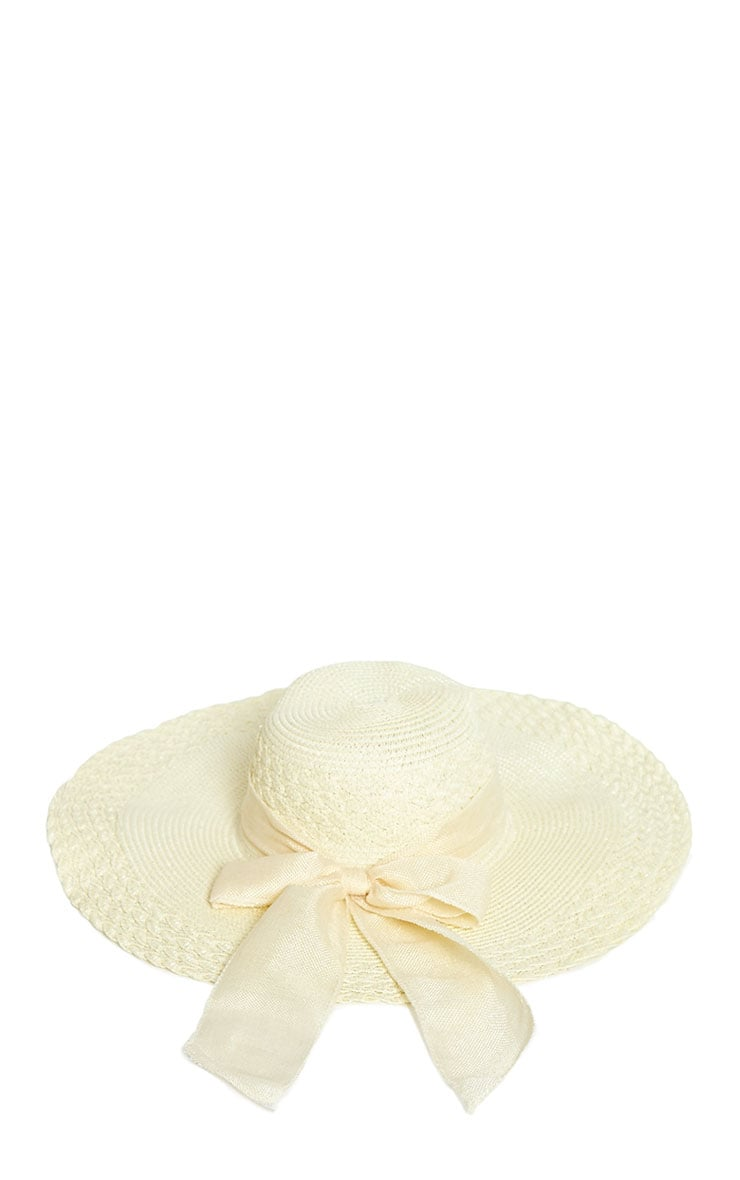 Henley Cream Straw Floppy Hat 3