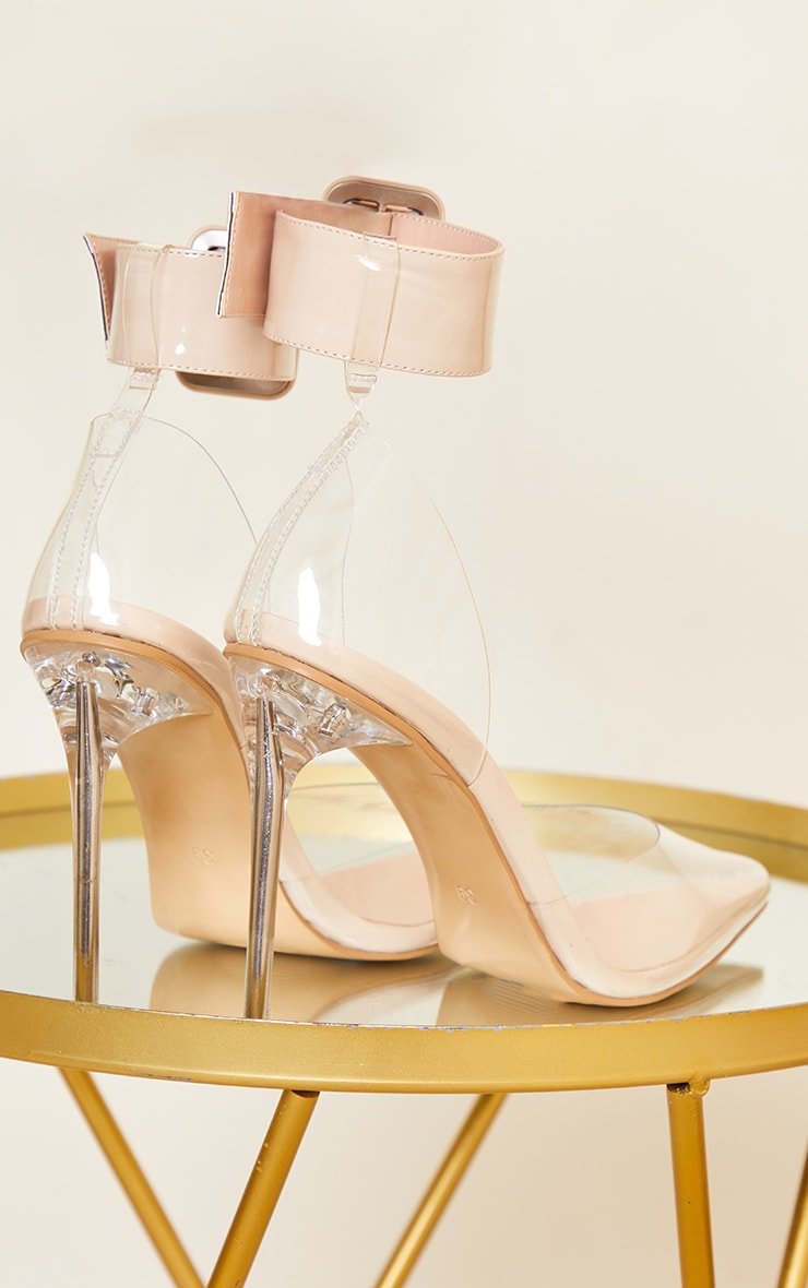 Clear Buckle Ankle Strap Stiletto Heel Court Shoes 4