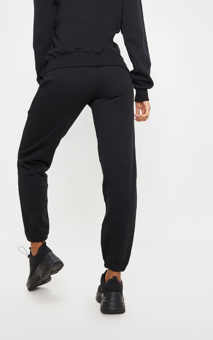 PRETTYLITTLETHING Black Care Logo Gym Sweat Jogger 4