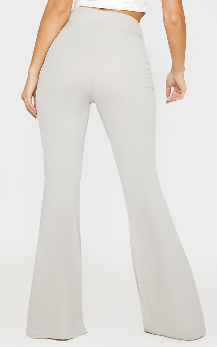 Grey Crepe Extreme Flare Trouser 4