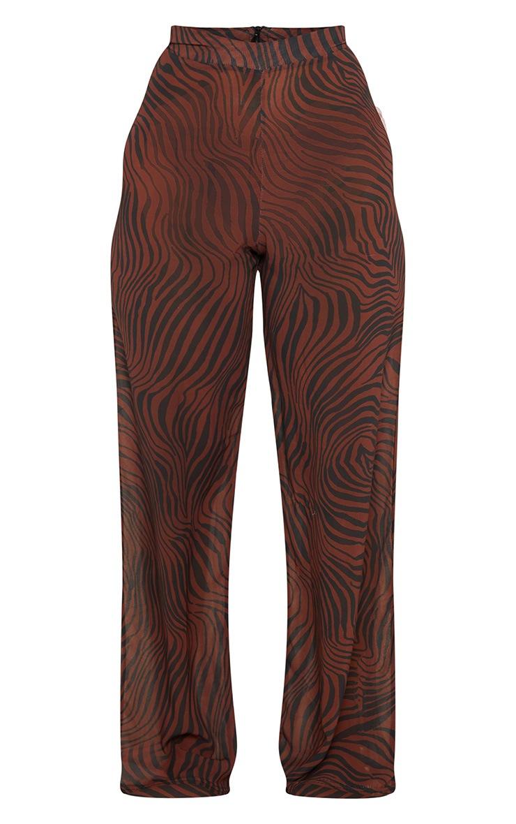 Rust Zebra Wide Leg Beach Trouser 3