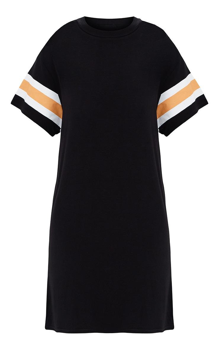 Black Triple Banded T Shirt Dress 4