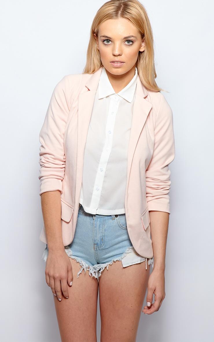 Molly Pink Jersey Blazer  1