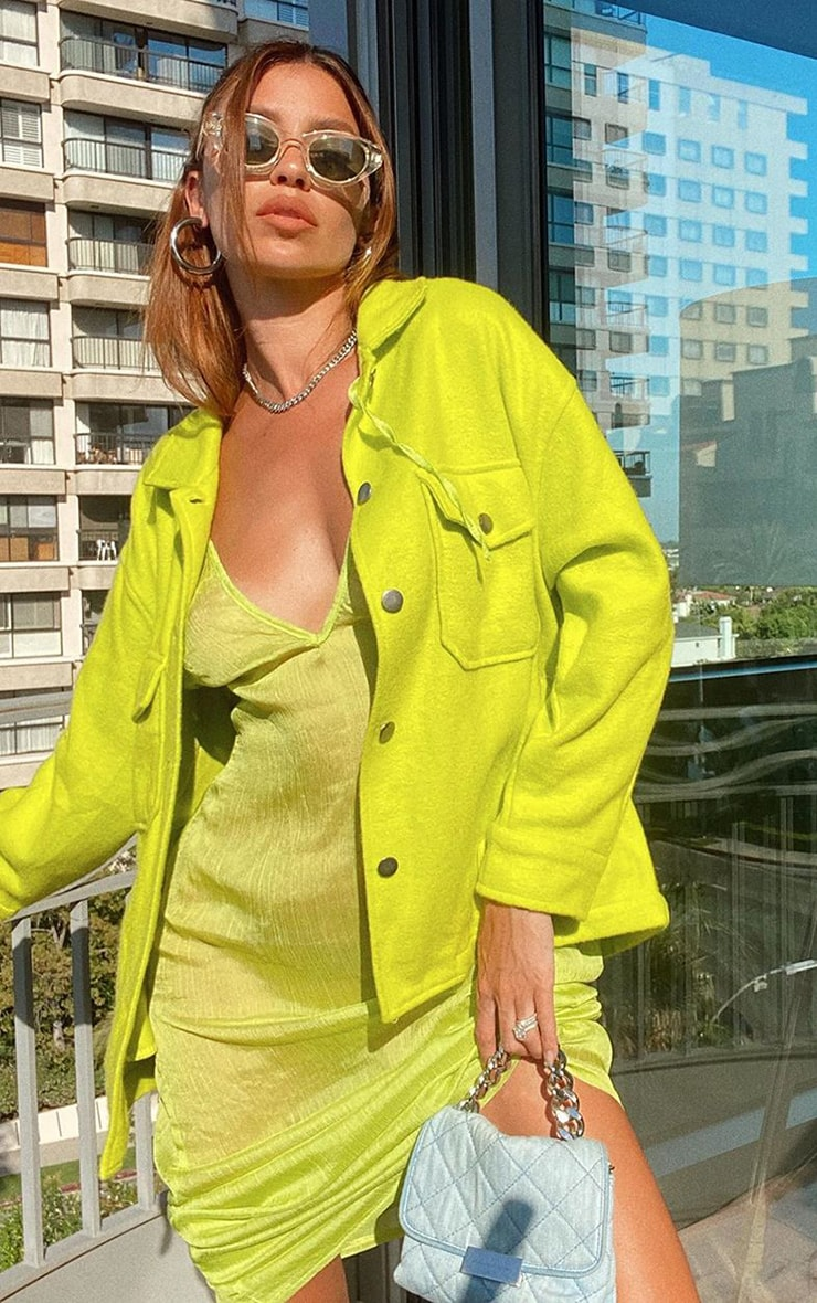 Lime Chiffon Maxi Beach Dress 1