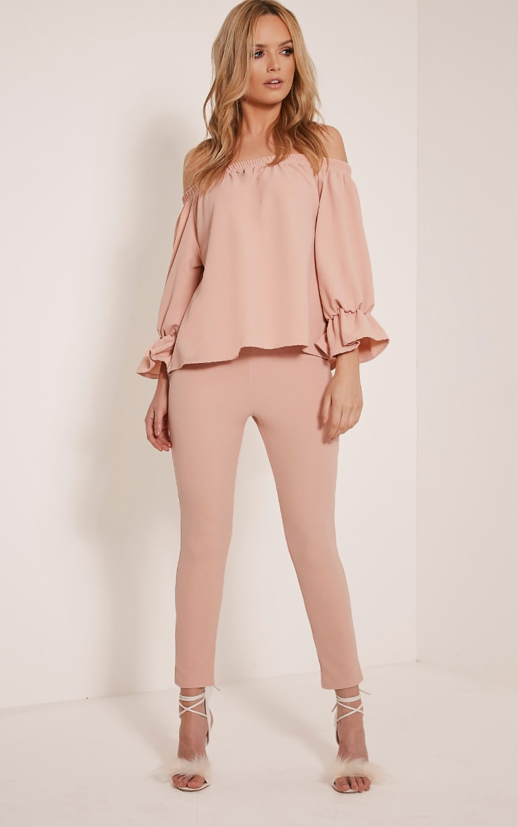 Evalyn Blush Cropped Trousers 1