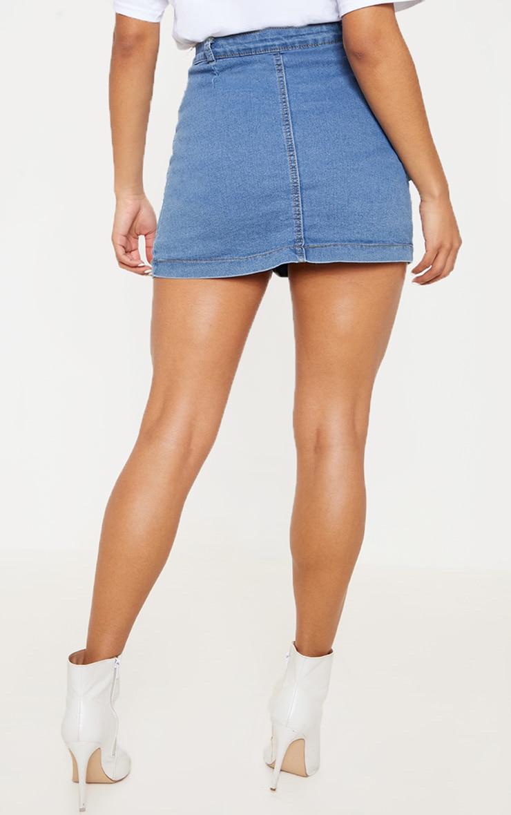 Cammie Mid Wash Denim Mini Skirt  4