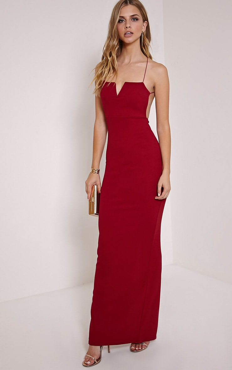 c8864bce3fd Raye Burgundy Maxi Dress image 1