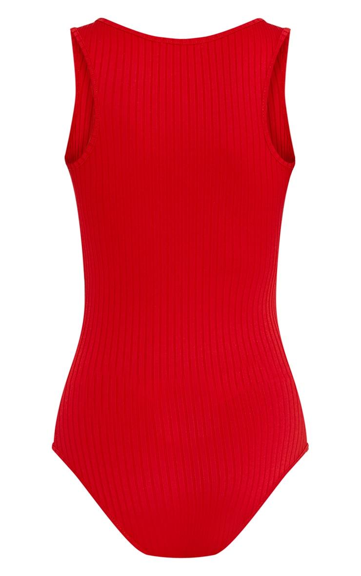 Marria body côtelé rouge 4