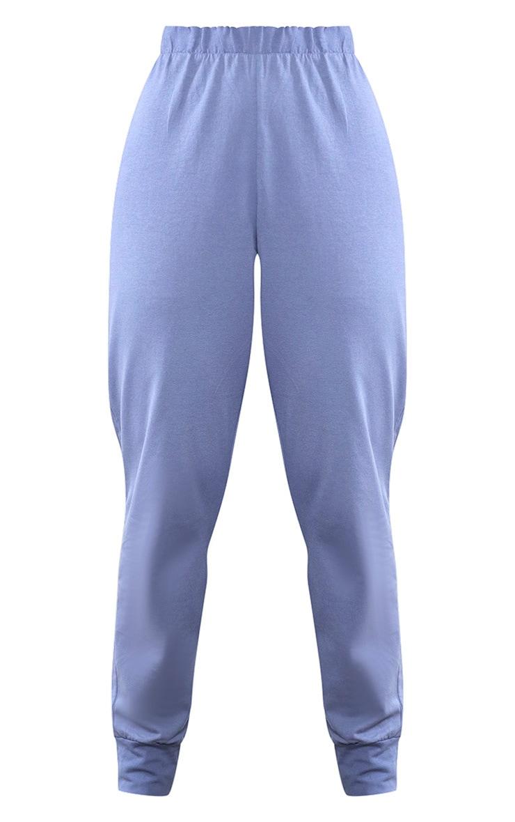 Blue Casual Lightweight PJ Joggers 5