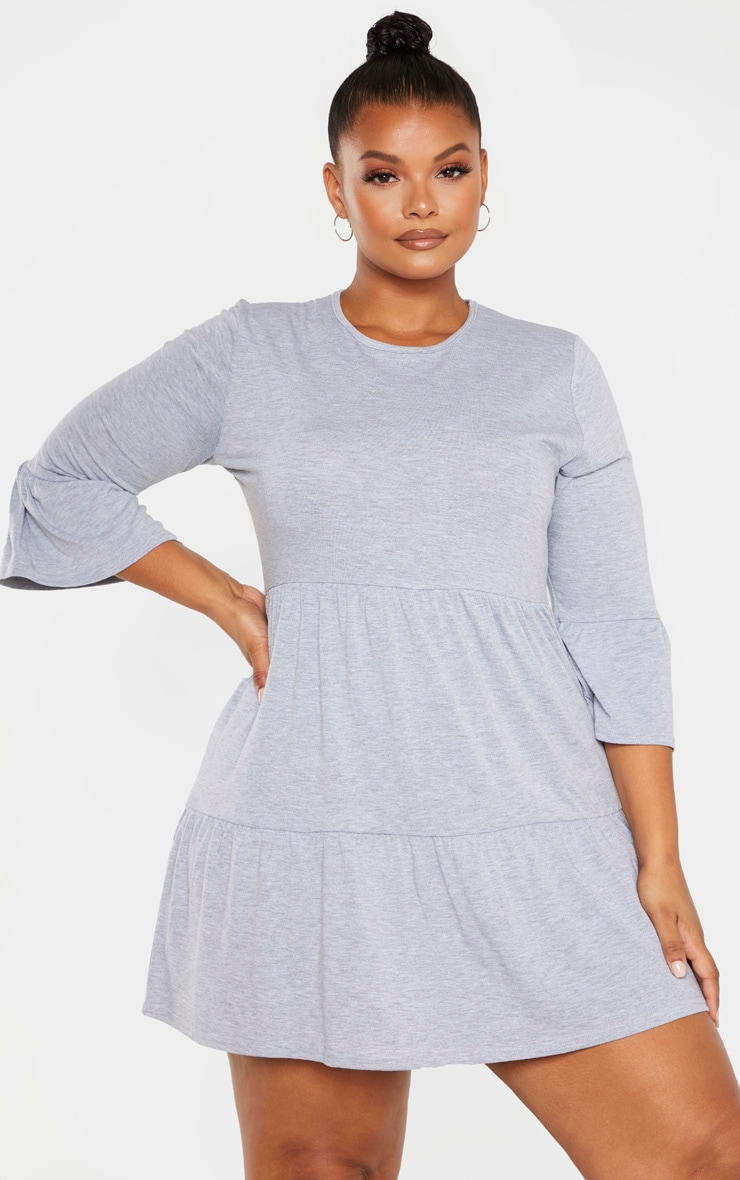 Plus Grey Shift Dress  1