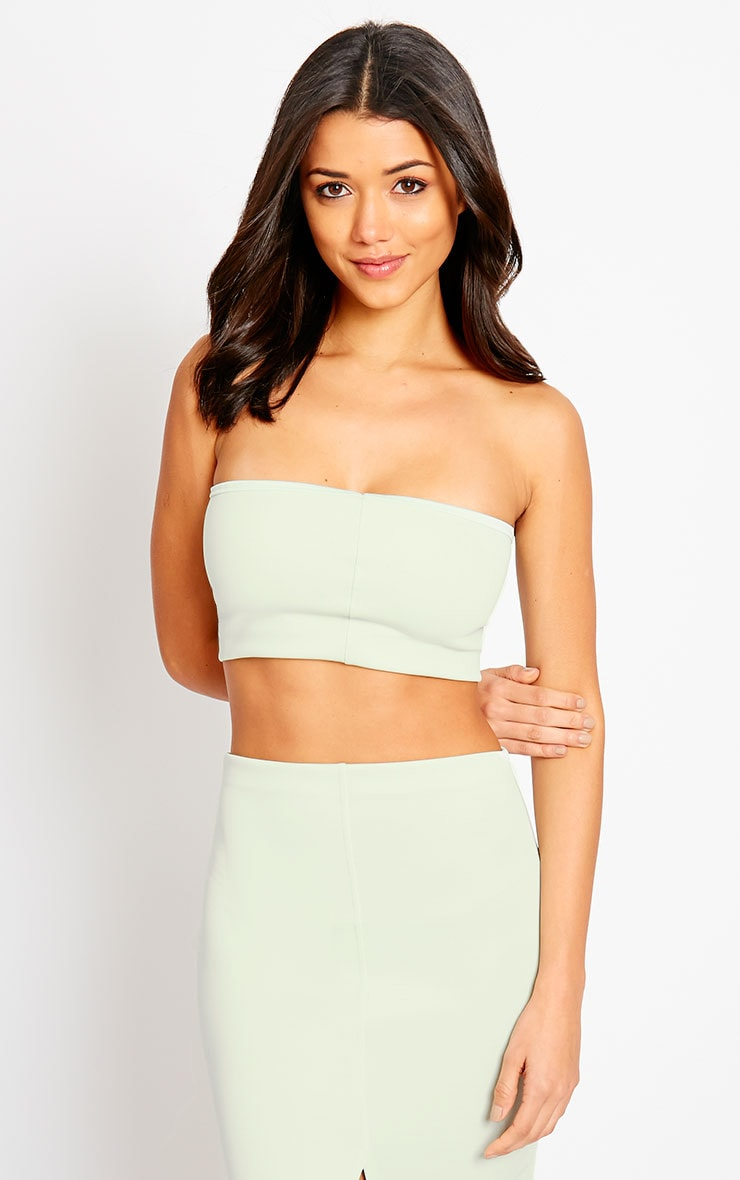 Kaja Mint Scuba Bandeau Crop Top 1