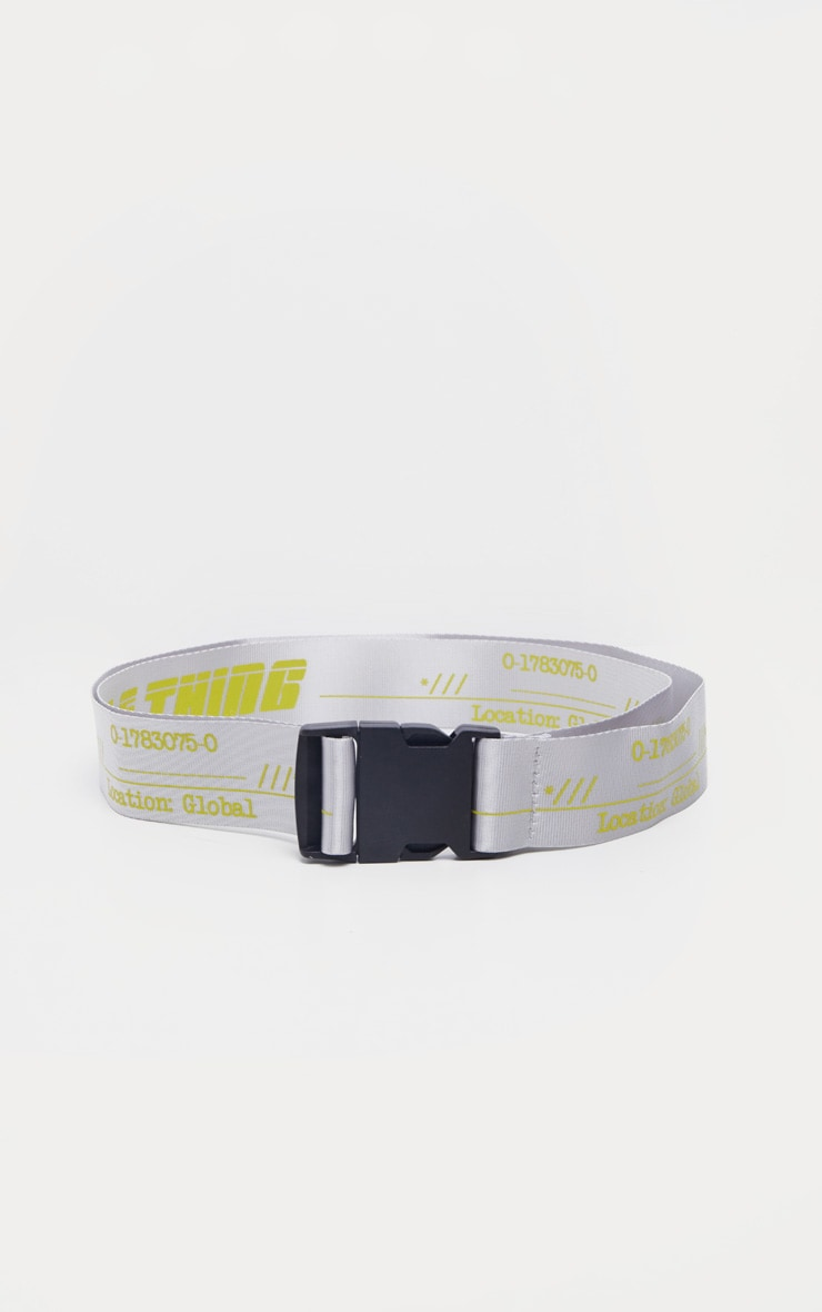PRETTYLITTLETHING Neon Lime Taping Belt 3