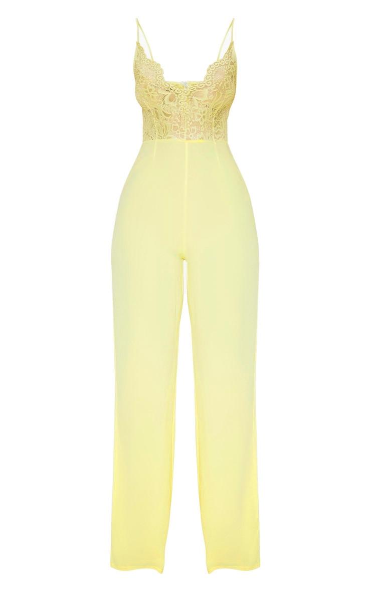 Lemon Lace Wide Leg Jumpsuit 3