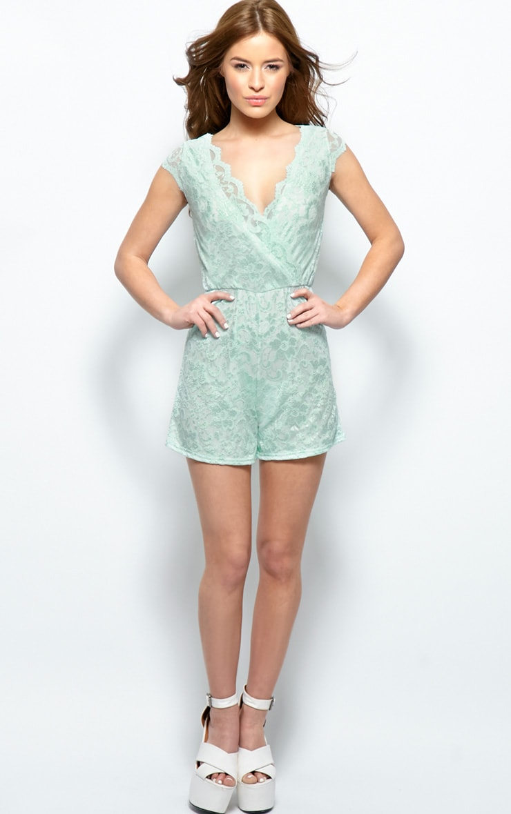 Leila Mint Lace Playsuit 3