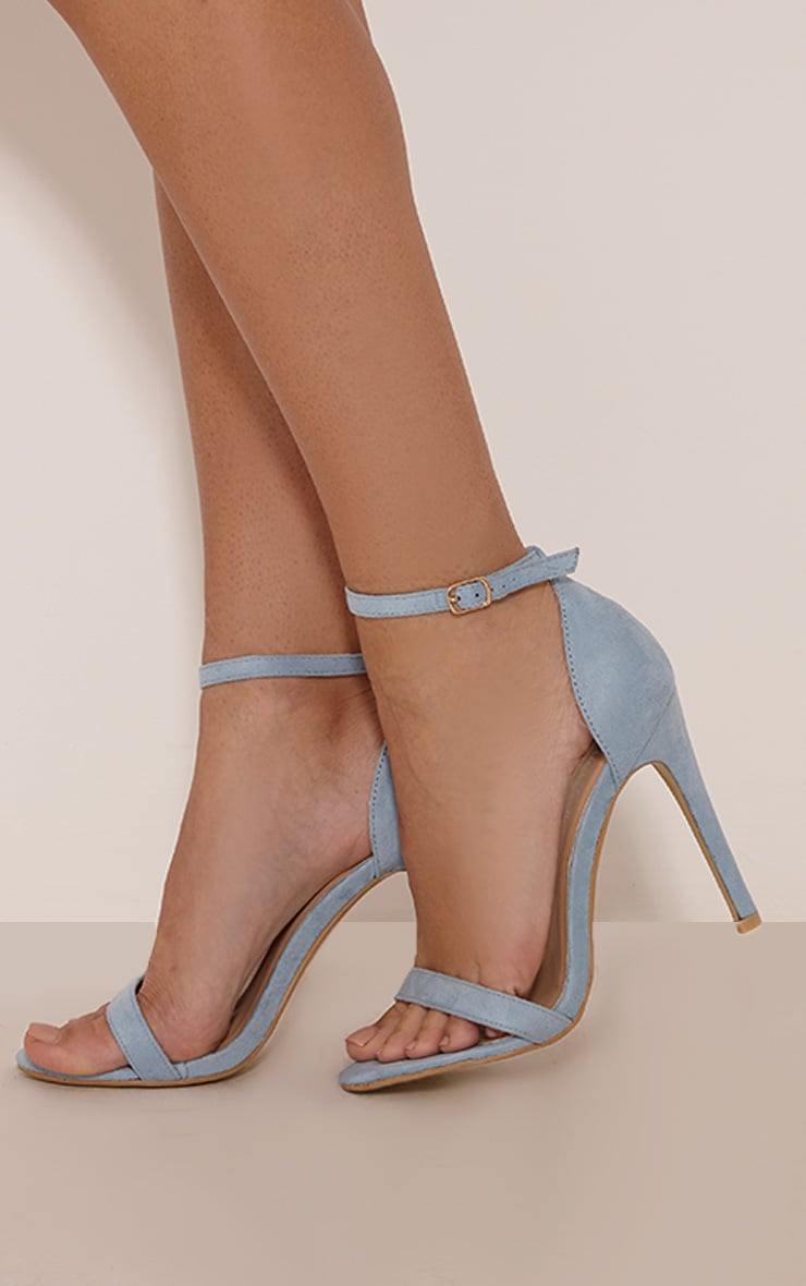 Clover Dusty Blue Strap Heeled Sandals 2