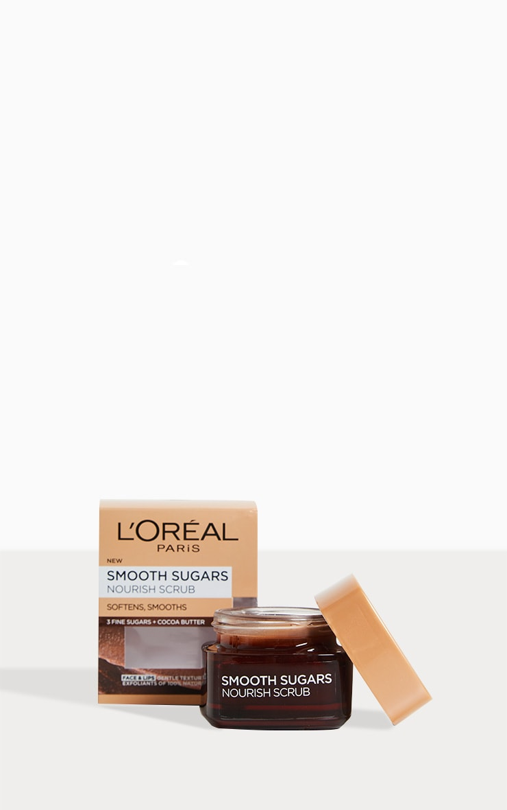 L'Oreal Paris Smooth Sugar Nourish Face & Lip Scrub 1