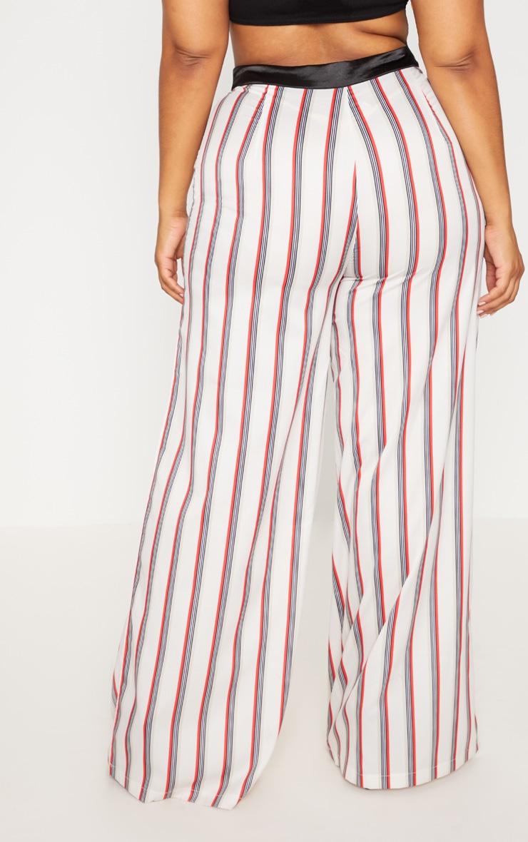 Plus Multi Stripe Wide Leg Pants 4