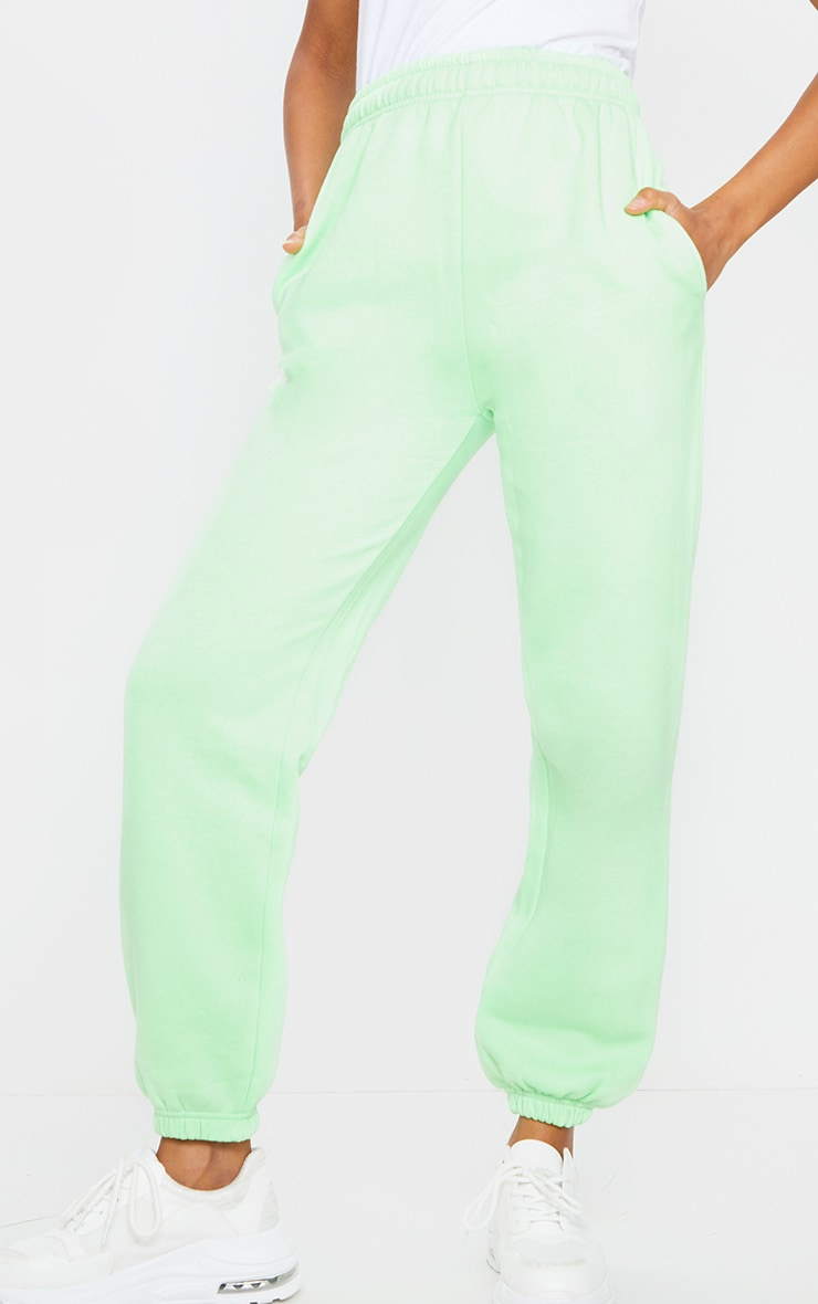 Apple Green Casual Joggers 2