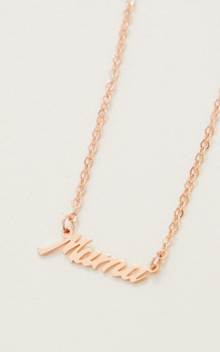 Maternity Rose Gold Simple 'Mama' Necklace 4