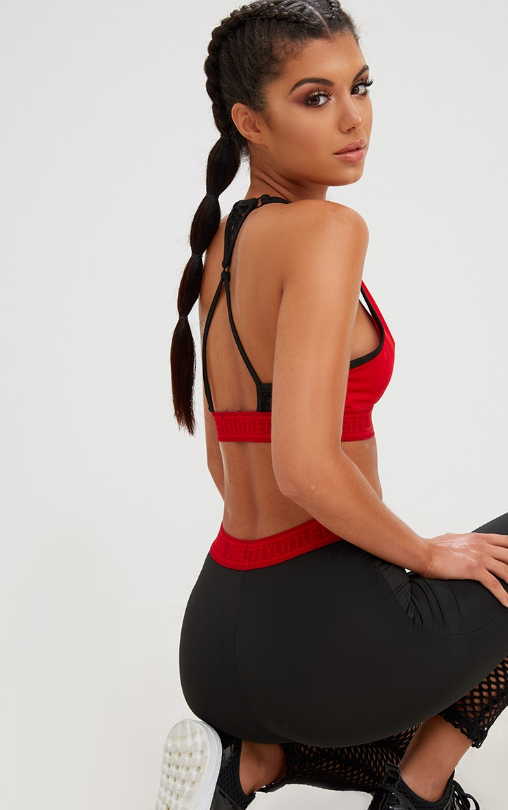PRETTYLITTLETHING Red Crop Top 3