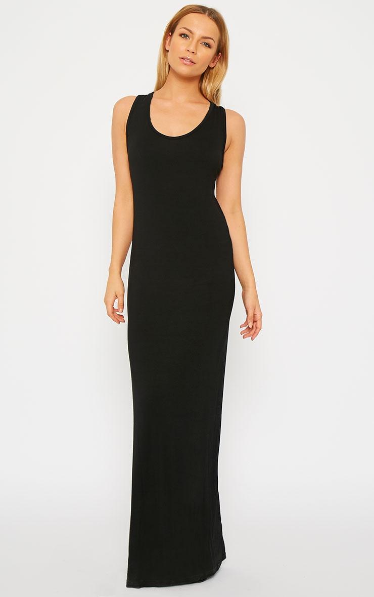 Basic Black Jersey Maxi Dress 5