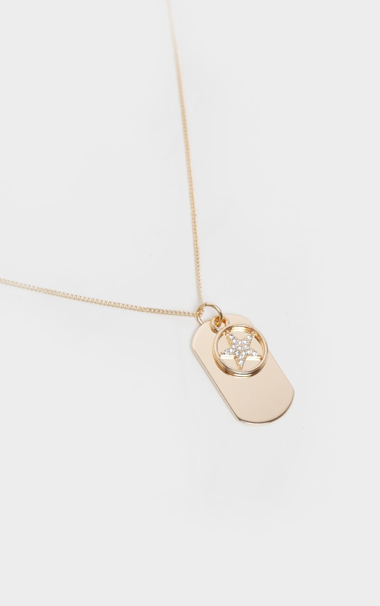 Gold Tags Necklace 1
