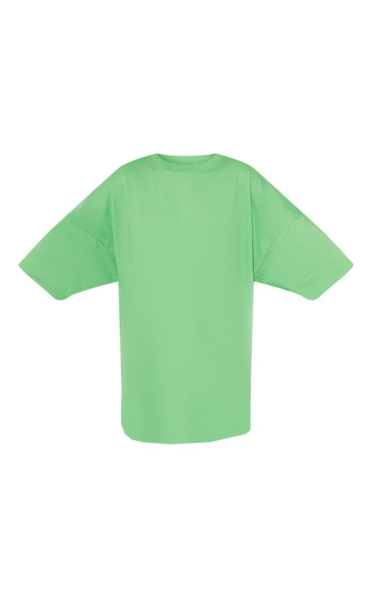 Green London England Graphic Short Sleeve T Shirt Dress 5